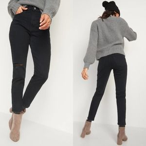 ON High-Waisted O.G. Straight Ripped Ankle Jeans